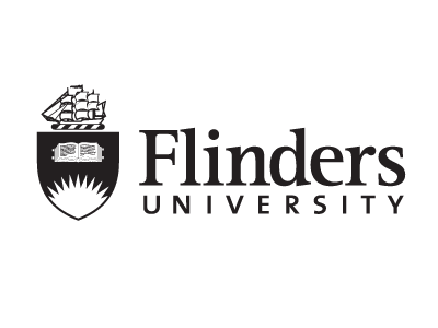 Flinders University logo and website link