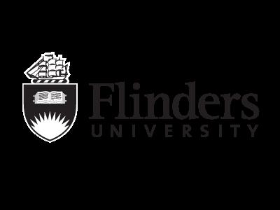 Flinders University logo and website link