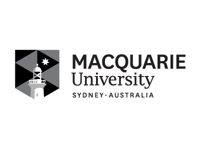 Macquarie University logo and website link
