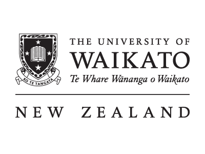The University of Waikato logo and website link